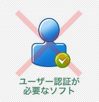 ユーザー認証が必要なソフト